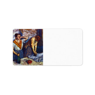 Edgar Degas - Two cleaning women Personalized Address Label