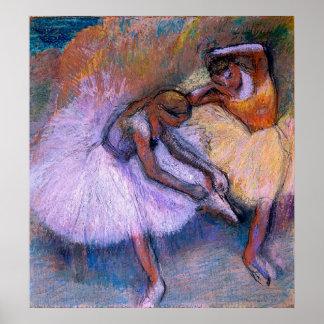 Edgar Degas - Two Dancers 1898 Ballet Pastel dance Poster