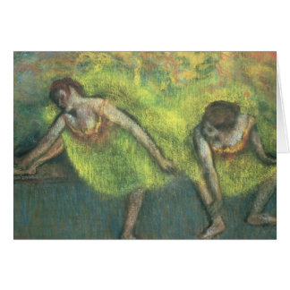 Edgar Degas | Two dancers relaxing Card