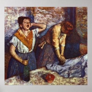 Edgar Degas - Two Women Ironing 1884 oil canvas Poster