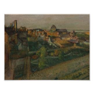 Edgar Degas - View of Saint-Valery-sur-Somme Photo Art