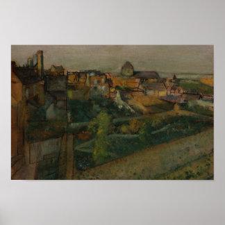 Edgar Degas - View of Saint-Valery-sur-Somme Poster