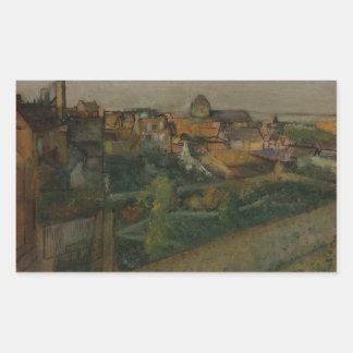 Edgar Degas - View of Saint-Valery-sur-Somme Sticker