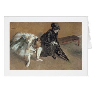 Edgar Degas   Waiting, c.1882 Card