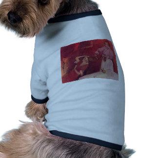 Edgar Degas - When Haarkammen Canvas Red Rouge Pet Clothing