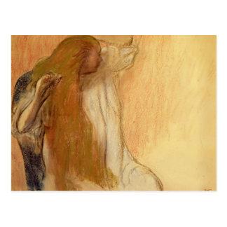 Edgar Degas: Woman Combing Her Hair Postcard