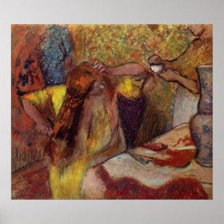 Edgar Degas Woman @ Toilet Brush Hair 1894 Vanity Print