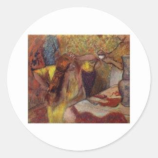 Edgar Degas Woman @ Toilet Brush Hair 1894 Vanity Stickers