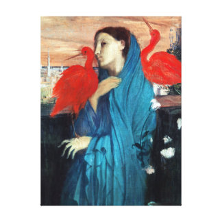 Edgar Degas Young Woman with Ibis Canvas Print