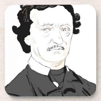 Edgar Poe Beverage Coasters