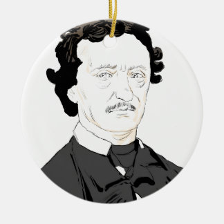 Edgar Poe Ceramic Ornament