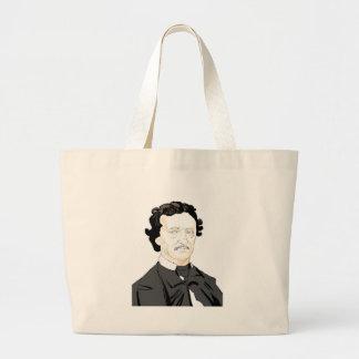 Edgar Poe Large Tote Bag