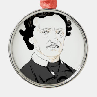 Edgar Poe Metal Ornament