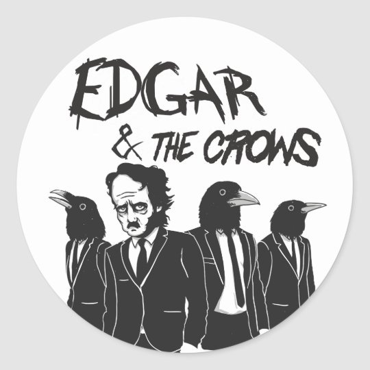 Edgar & The Crows Classic Round Sticker