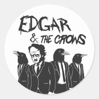 Edgar & The Crows Round Sticker