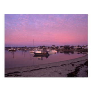 Edgartown harbor at Dawn Marthas Vineyard Postcard