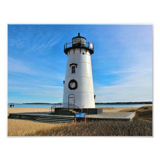 Edgartown Harbor Lighthouse, Martha's Vineyard MA Photo Print