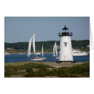 Edgartown Lighthouse at Martha's Vineyard Card