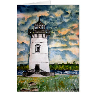 Edgartown Lighthouse Marthas Vineyard Card