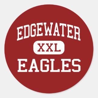 Edgewater - Eagles - High School - Orlando Florida Classic Round Sticker