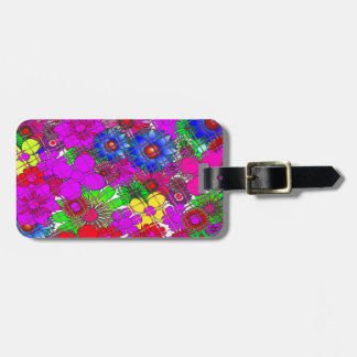 Edgy Beautiful colorful amazing floral pattern des Bag Tag