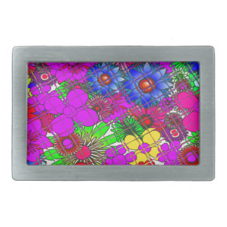 Edgy Beautiful colorful amazing floral pattern des Belt Buckles