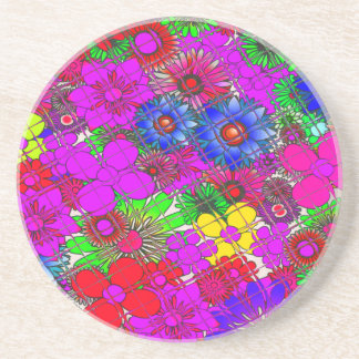 Edgy Beautiful colorful amazing floral pattern des Beverage Coasters