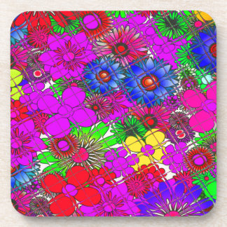Edgy Beautiful colorful amazing floral pattern des Coasters