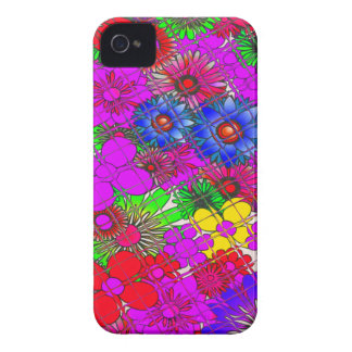 Edgy Beautiful colorful amazing floral pattern des iPhone 4 Covers