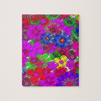 Edgy Beautiful colorful amazing floral pattern des Jigsaw Puzzle
