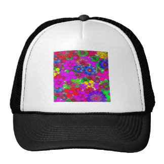 Edgy Beautiful colorful amazing floral pattern des Trucker Hat