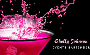 Edgy business cards business card printing zazzle ca edgy black and pink splash events bartender business card colourmoves