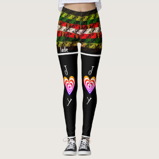 Edgy Elf Joy and Jingle Winter Holiday Leggings