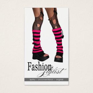 Edgy Funky Fashion Stylist Costume Design fuschia Business Card