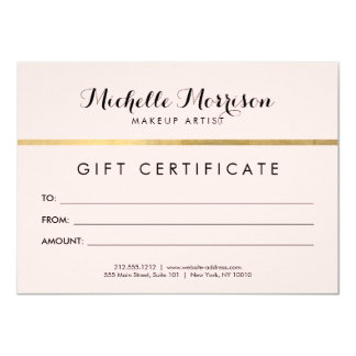 Edgy Geometric Faux Gold Foil and Pink Gift Card