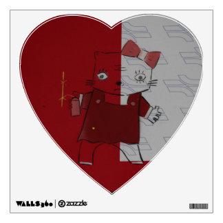 Edgy Hello Kitty Wall or Locker Decoration Wall Sticker