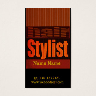 Edgy Modern Typography Salons  Hair stylist Business Card