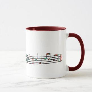 Edgy music notes mug