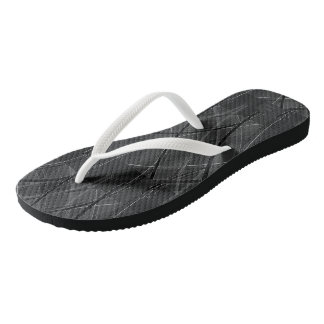 Edgy Tech Distorted Plaid Flip Flops