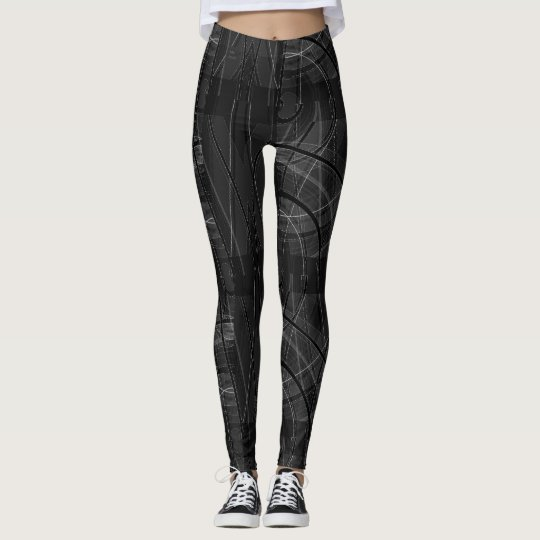 Edgy Tech Distorted Plaid Leggings