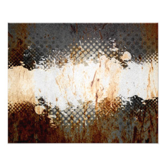 Edgy Urban Rust with Paint Splatter Layout Photo Art