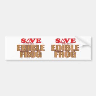 Edible Frog Save Bumper Sticker