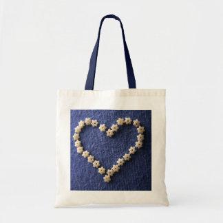 Edible heart tote bag