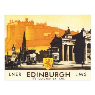 Edimbourg LNER affinent l'affiche vintage de Carte Postale
