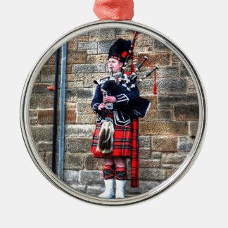 Edimburgh Silver-Colored Round Ornament
