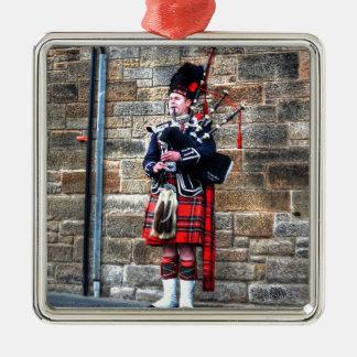 Edimburgh Silver-Colored Square Ornament