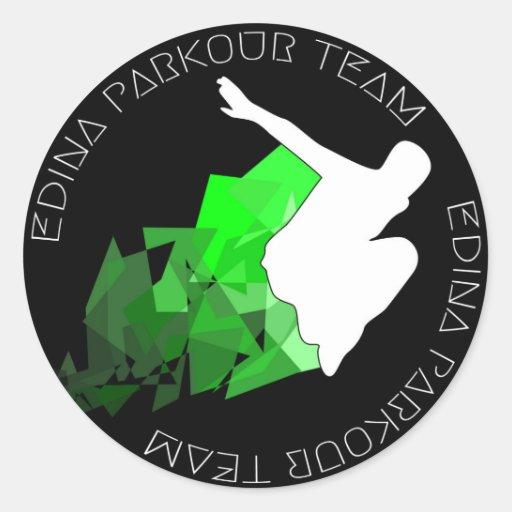 Edina Parkour Team Sticker 2014
