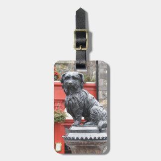 Edinburg, Scotland Cute Dog Statue Bag Tag