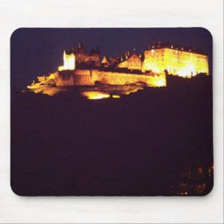 edinburgh castle at night mousepad