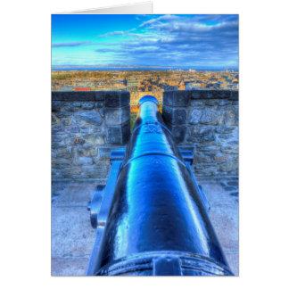 Edinburgh Castle Cannon Card